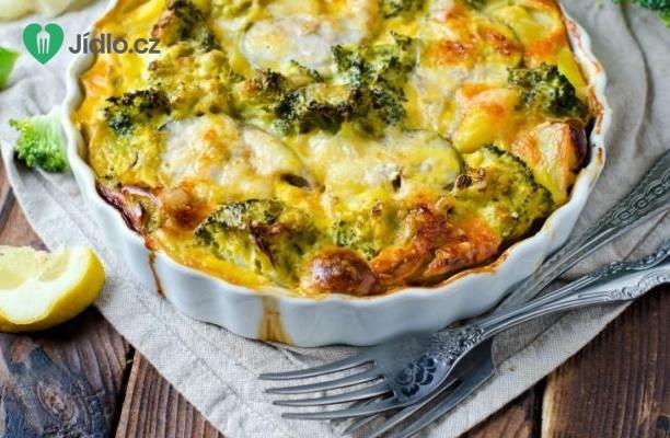 Zapečená brokolice s cuketou a špenátem recept