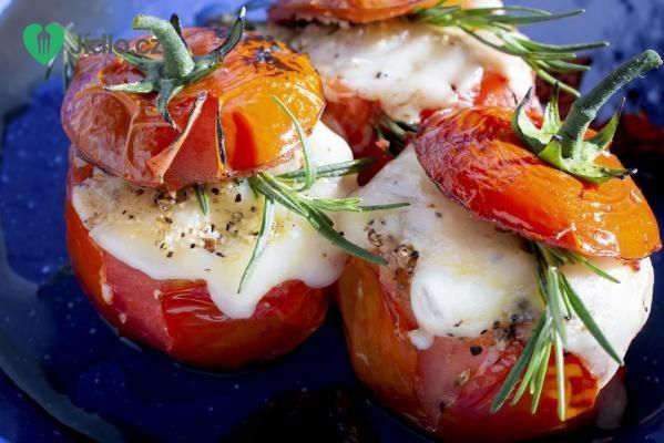 Zapečená rajčata se špenátovou náplní recept