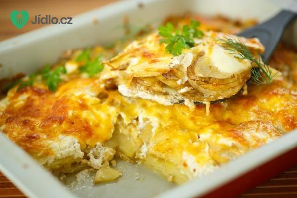 Zapečené brambory se sýrem recept