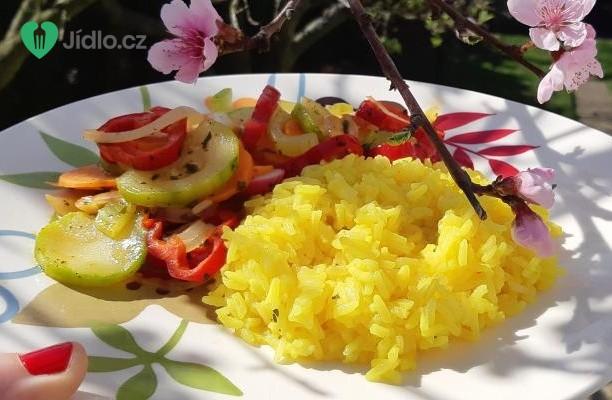 Zelenina na másle s jasmínovou rýží recept