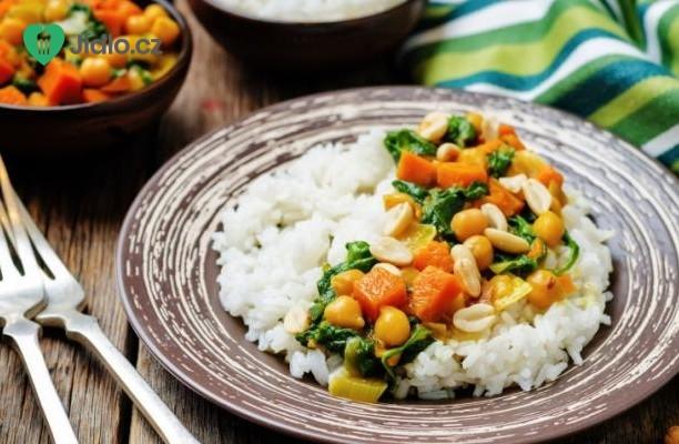 Zeleninové kari se špenátem recept