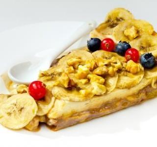 Banánový moučník s ořechy