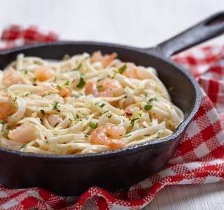 Italské těstoviny s krevetami