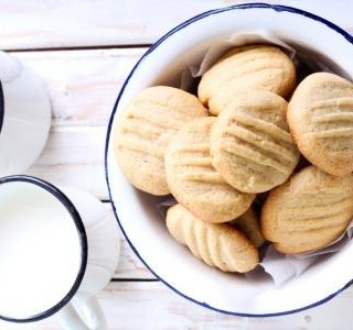 Jednoduché máslové sušenky z lisu na těsto