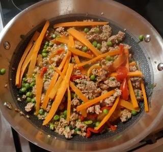 Krůtí mleté maso se zeleninou