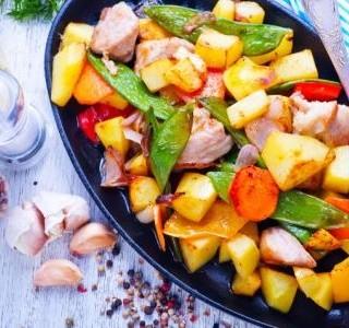 Kuřecí maso s letní zeleninou