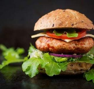 Lahodný a lehký hamburger