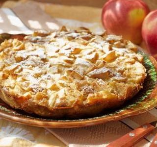 Nepečený jablečný dezert