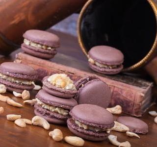 Ořechové makronky