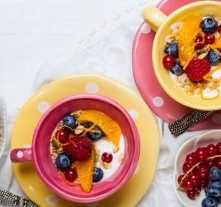 Ovesná kaše s ovocem