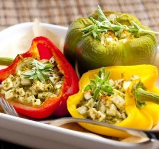 Pečené papriky s nivou