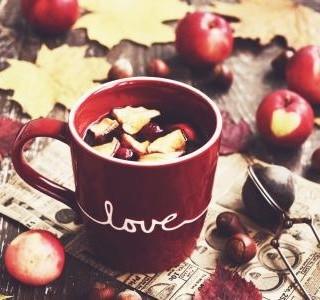 Pečený čaj s jablky a brusinkami