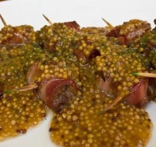 Plněné kuřecí závitky s hořčičným semínkem