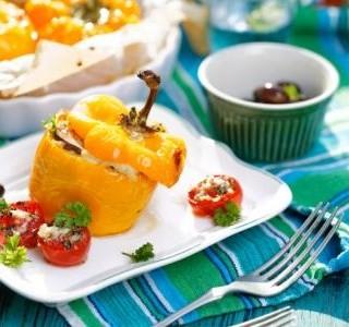 Plněné papriky na řecký způsob