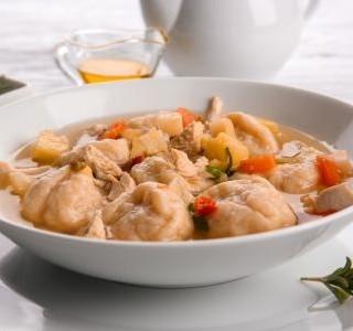 Polévka se zázvorovými knedlíčky