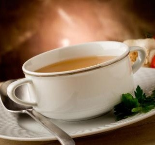 Polévka z ovesných vloček