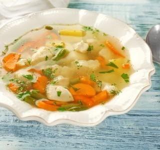Polévka ze slepičích drůbků