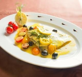 Pražma na citrónovej omáčke s olivami