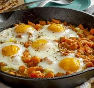 Sladké brambory s vejci