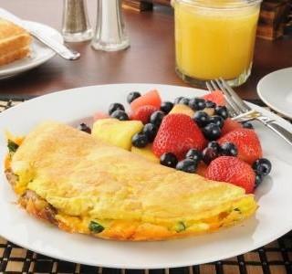 Sladká nadýchaná omeleta
