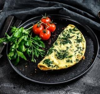 Špenátová omeleta z bílků