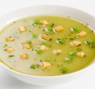 Sváteční hrachová polévka
