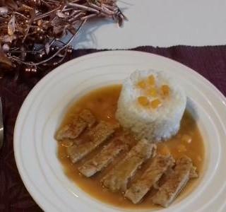 Vepřová pečeně s rýží