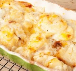 Zapečené sladké brambory s vodnicí