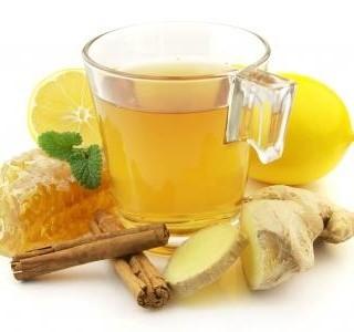 Zázvorový čaj pro zahřátí