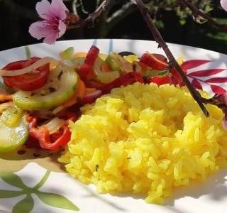 Zelenina na másle s jasmínovou rýží