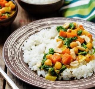 Zeleninové kari se špenátem
