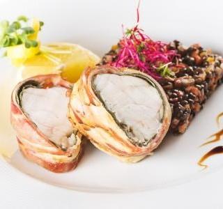 Morský čert –saltinboka  na šošovicovo zeleninovom ragú