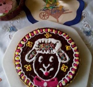 Tvarohový velikonoční dort